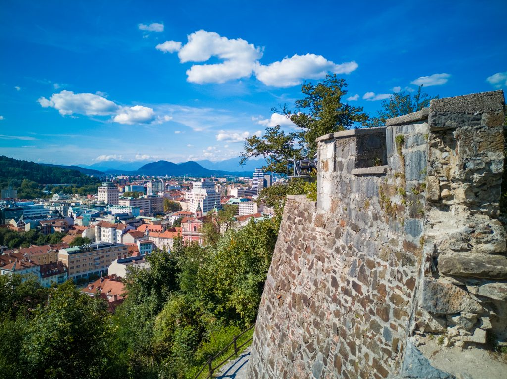 Vista-dal-castello-di-Lubiana