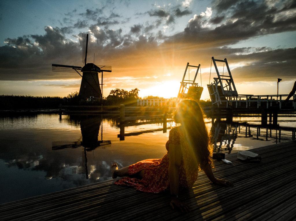 Kinderdijk-al-tramonto